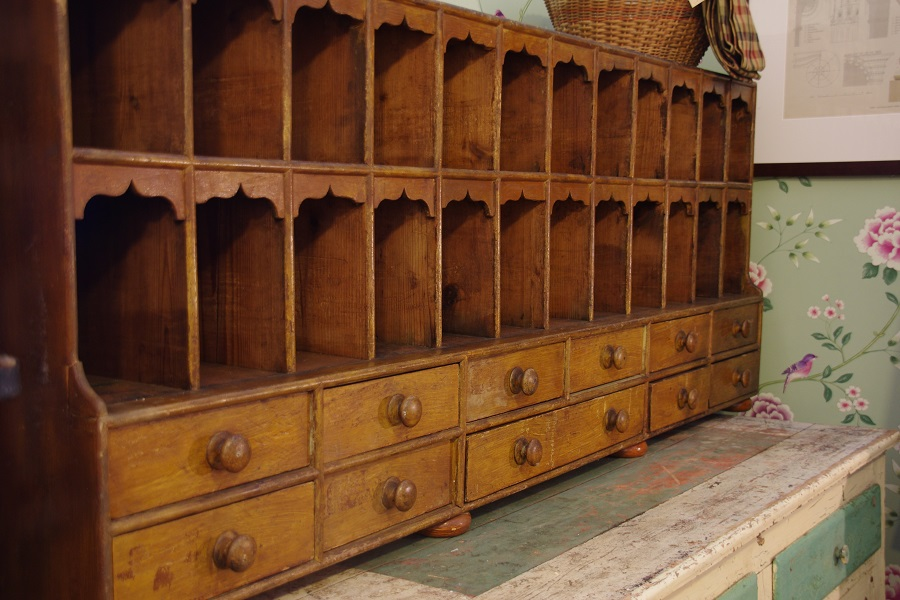 C1860 Pigeon Holes And Drawers Stalking Cat Antiques